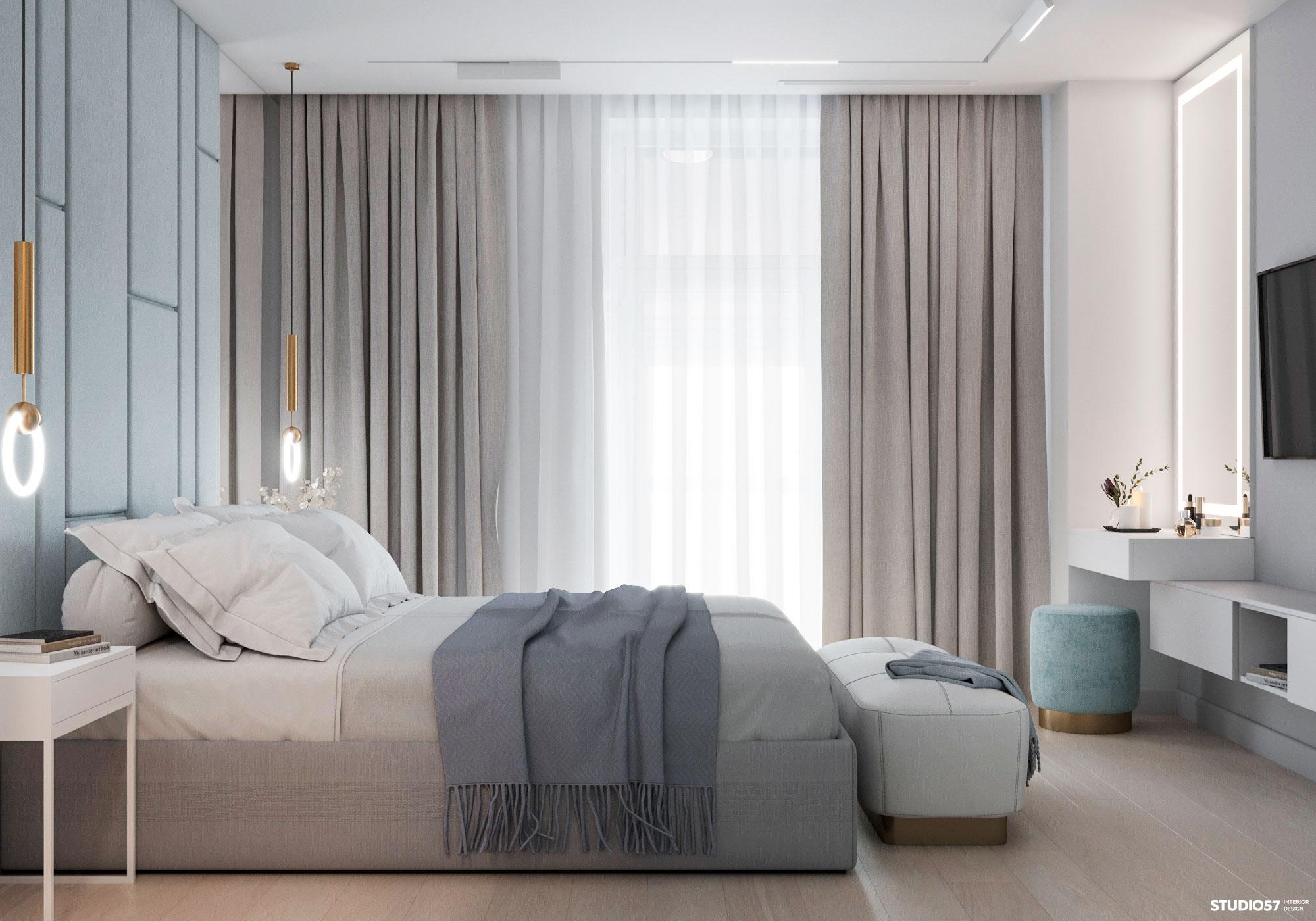 Интерьер спальни. Вид 2.