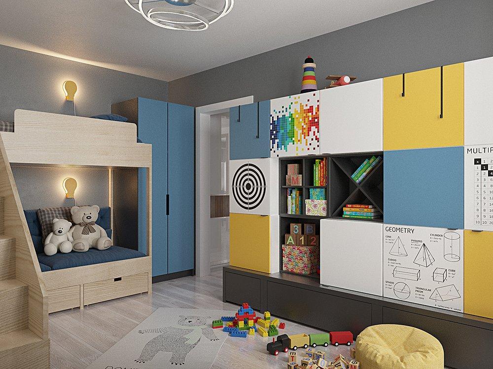 Фото дизайн проекта детской комнаты