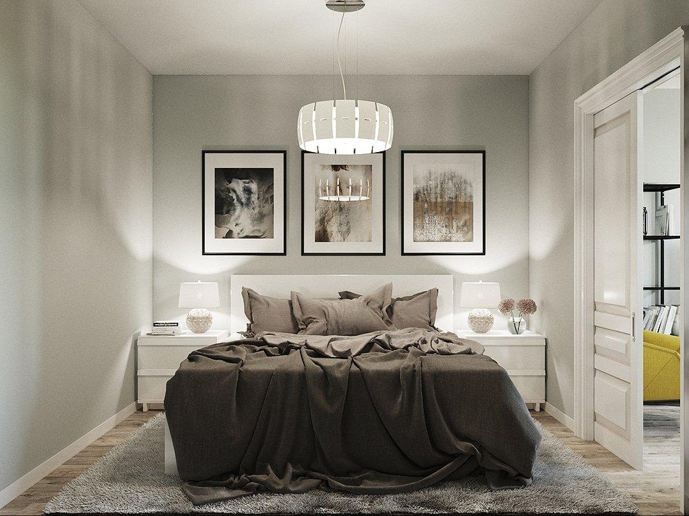 Дизайн интерьера спальни в шоколадных оттенках