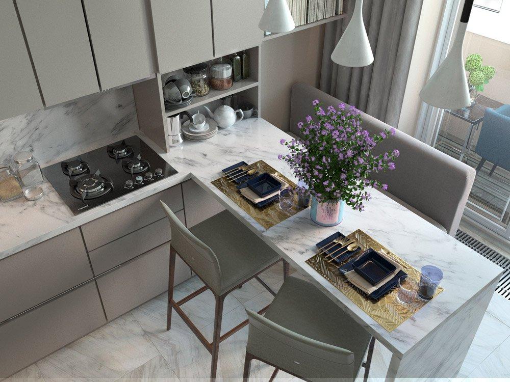 Оформление кухни на четыре персоны
