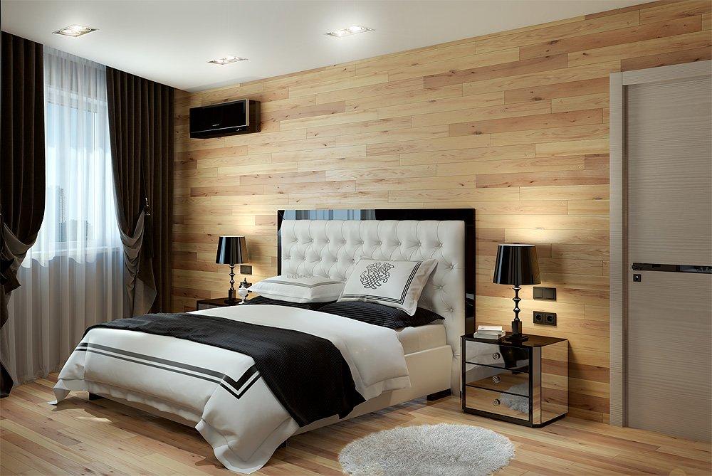 Деревянная стена в квартире