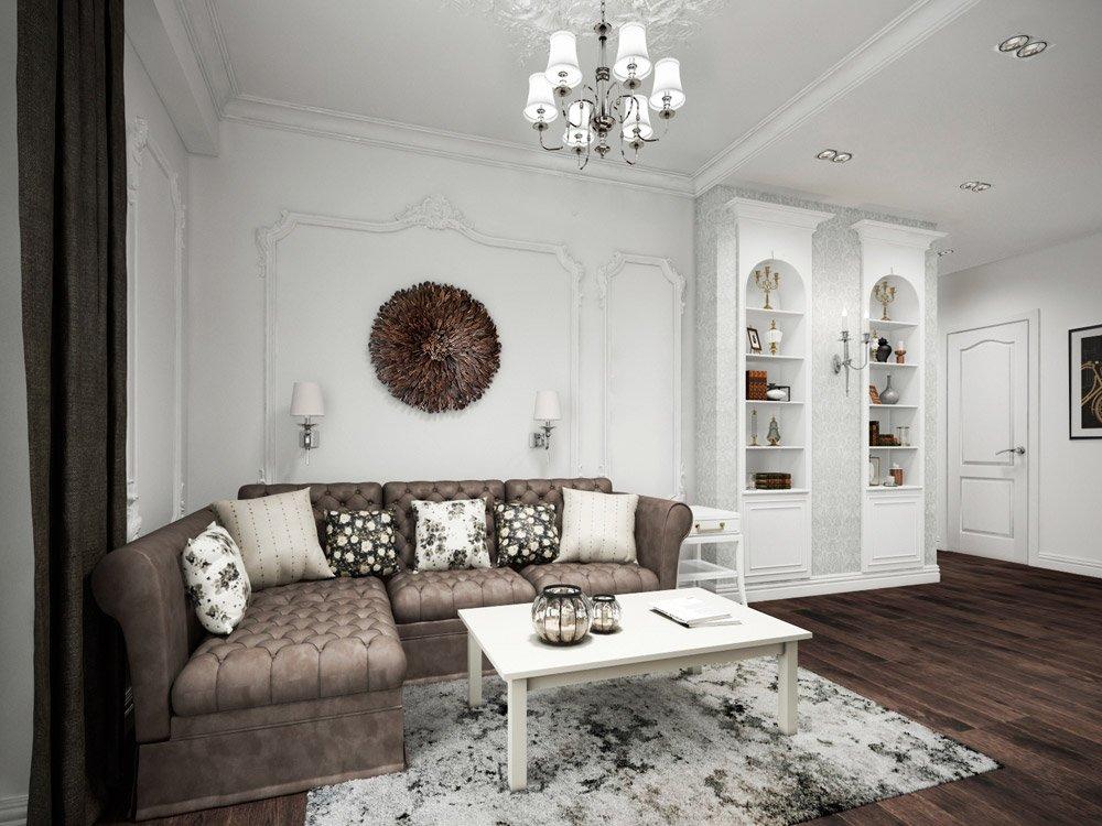 Дизайн квартиры в двух цветовых гаммах