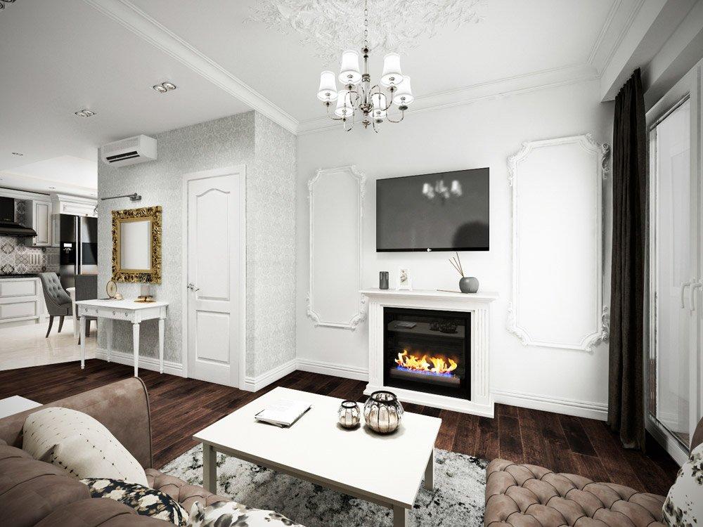 Дизайн белого туалетного столика