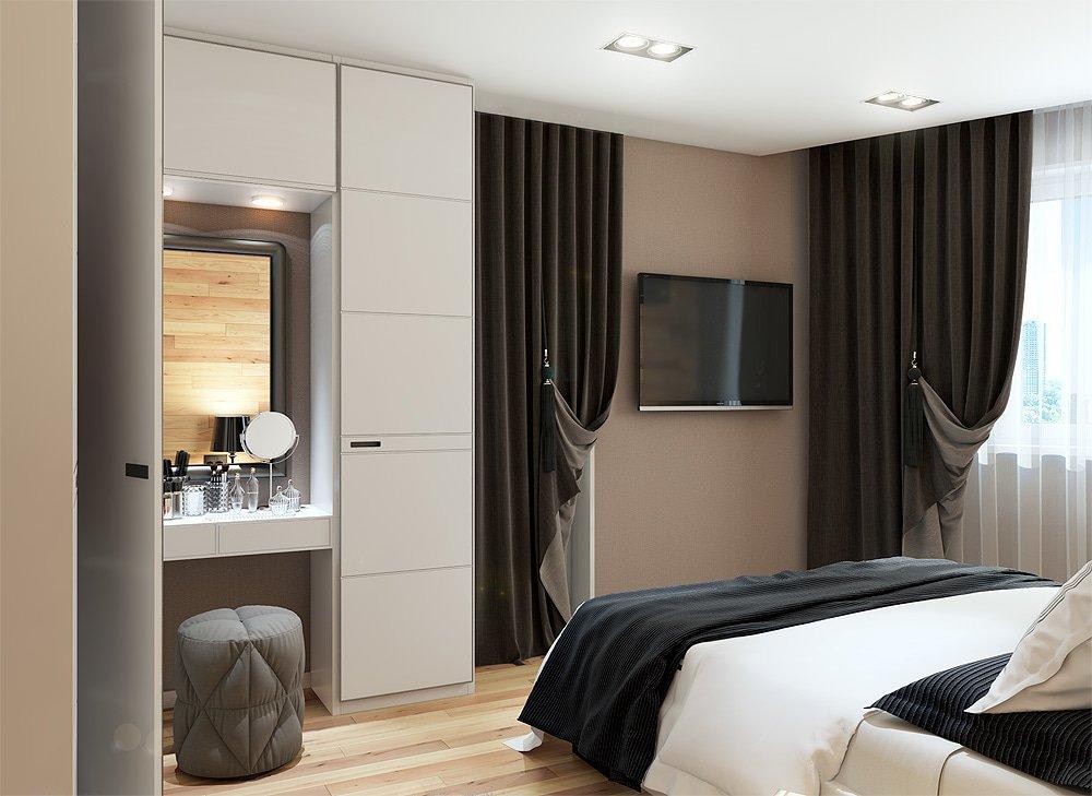 Шкаф в спальне для семьи