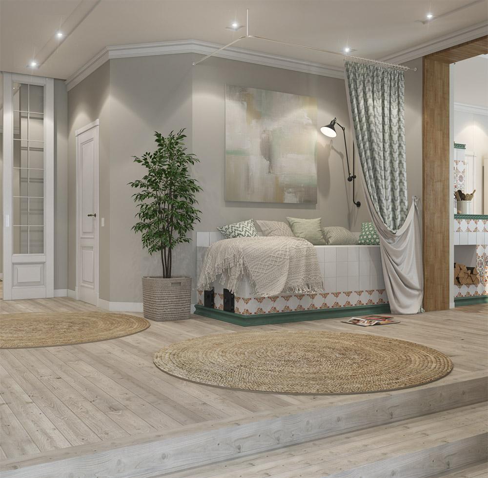 Зона для отдыха и уединения в доме