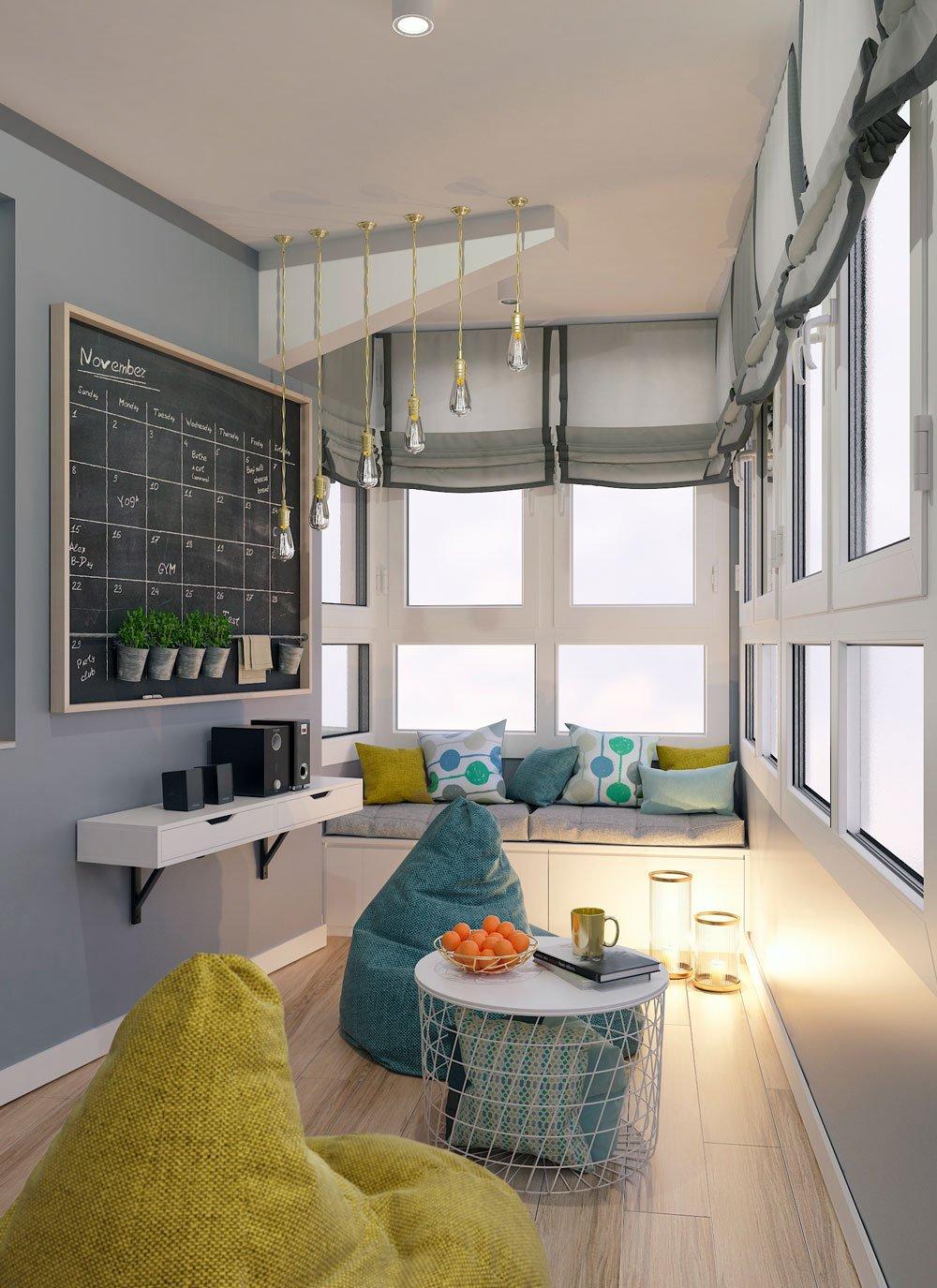 Современный дизайн балкона фото