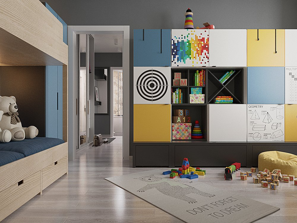 Дизайн детской для детей пяти лет