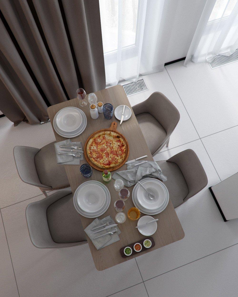 Фото столовой зоны в доме