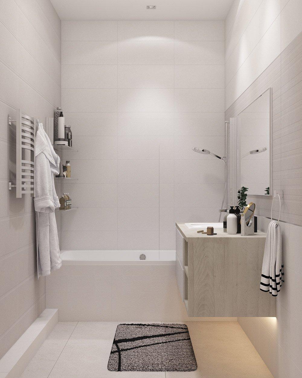 Дизайн туалета в цвете слоновой кости