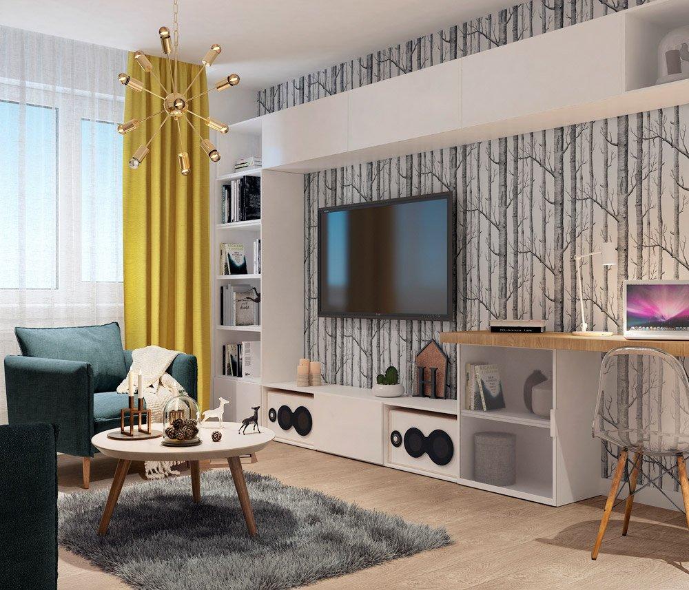 Дизайн гостиной 12 м кв