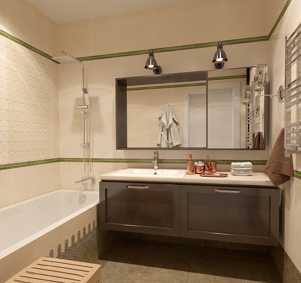Ванна в двухкомнатной квартире