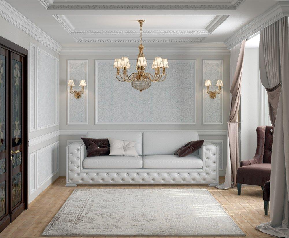 Неоклассическая комната для гостей