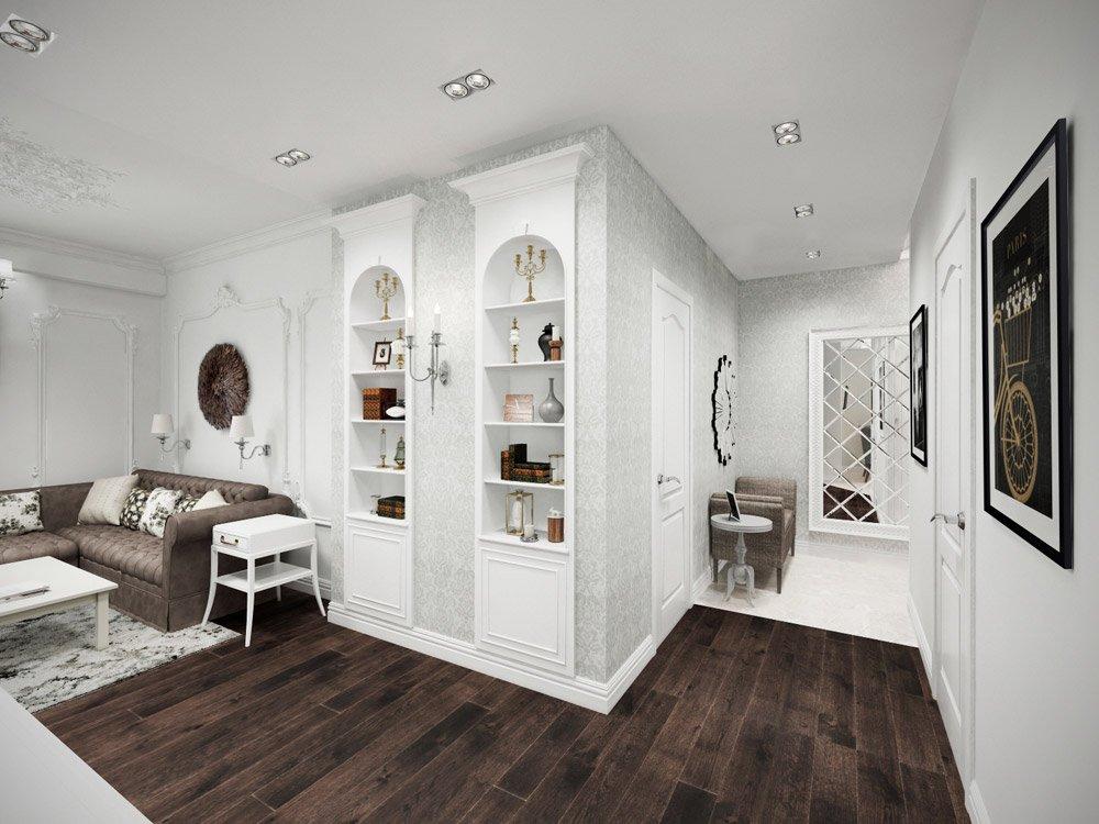 Встроенные шкафы в гостиной