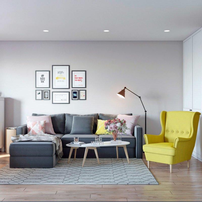 Стильная мебель в интерьере гостиной