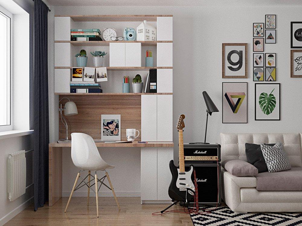 Декор рабочего места в квартире