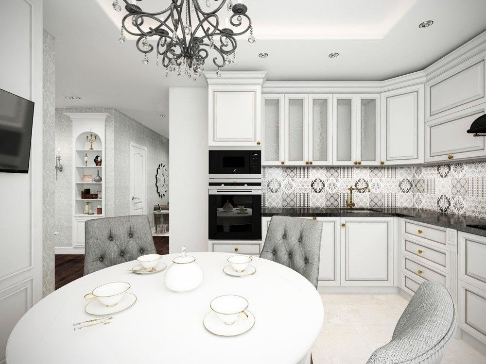 Античный стиль в дизайне кухни