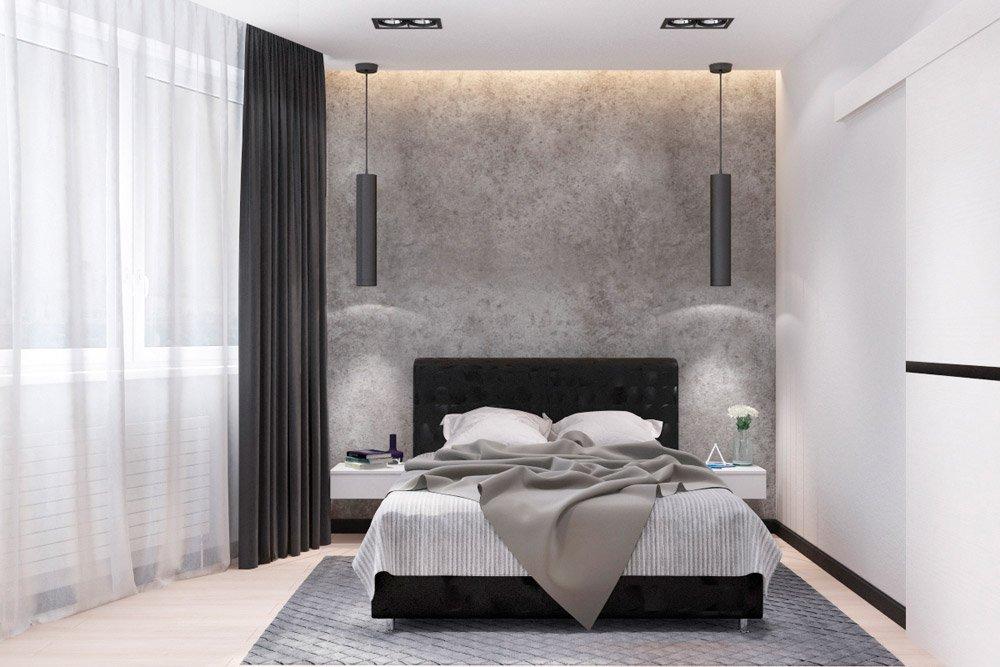 Подвесные светильники в интерьере спальни