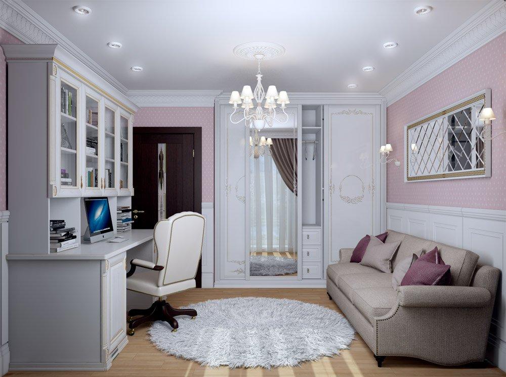 Комната для девушки в классическом стиле