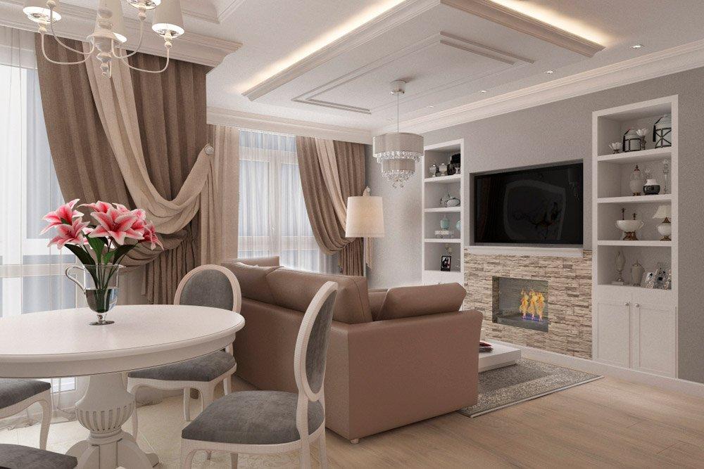 Мягкая мебель в интерьере квартиры для девушки
