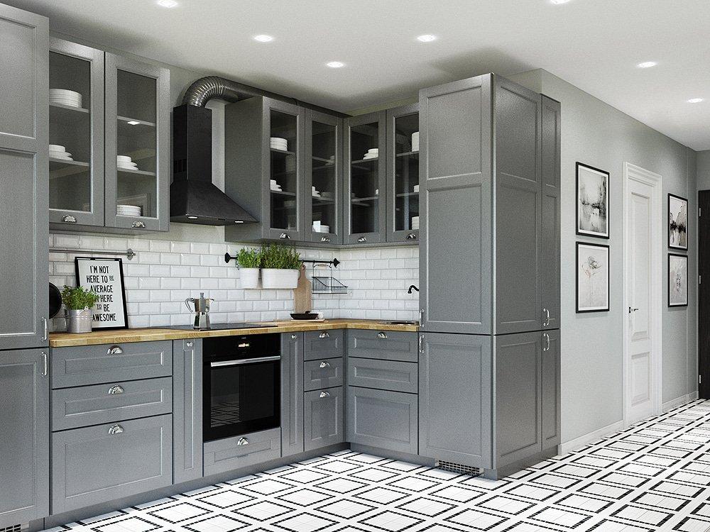 Плитка кирпичная в кухне
