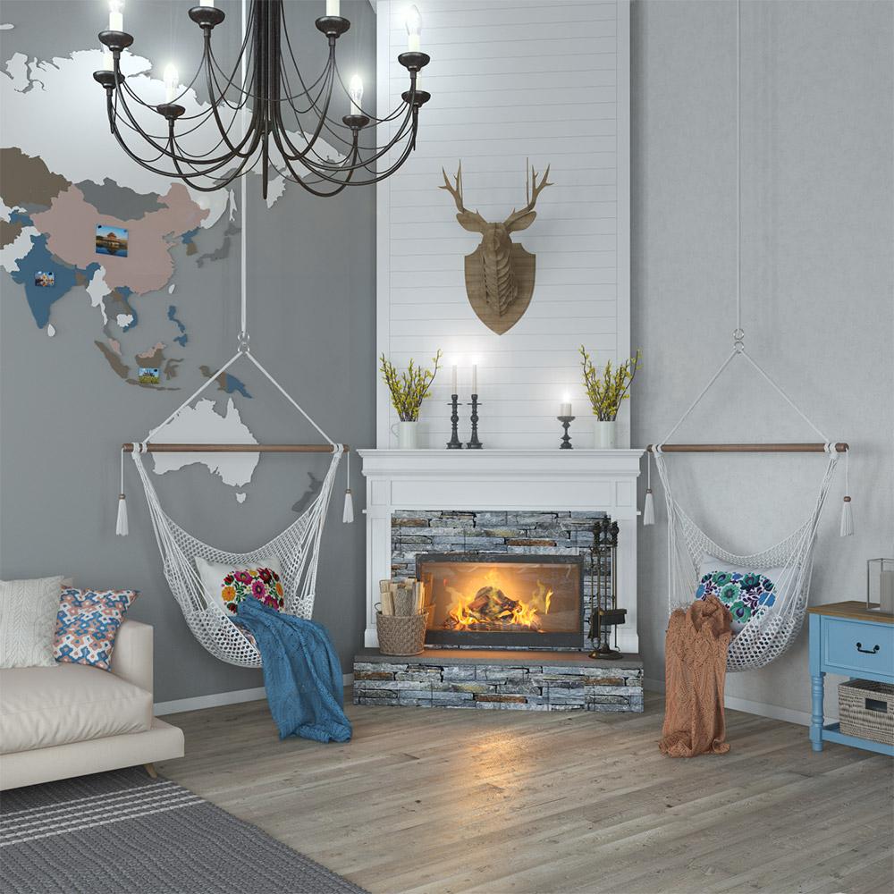 Дизайн камина в частном доме