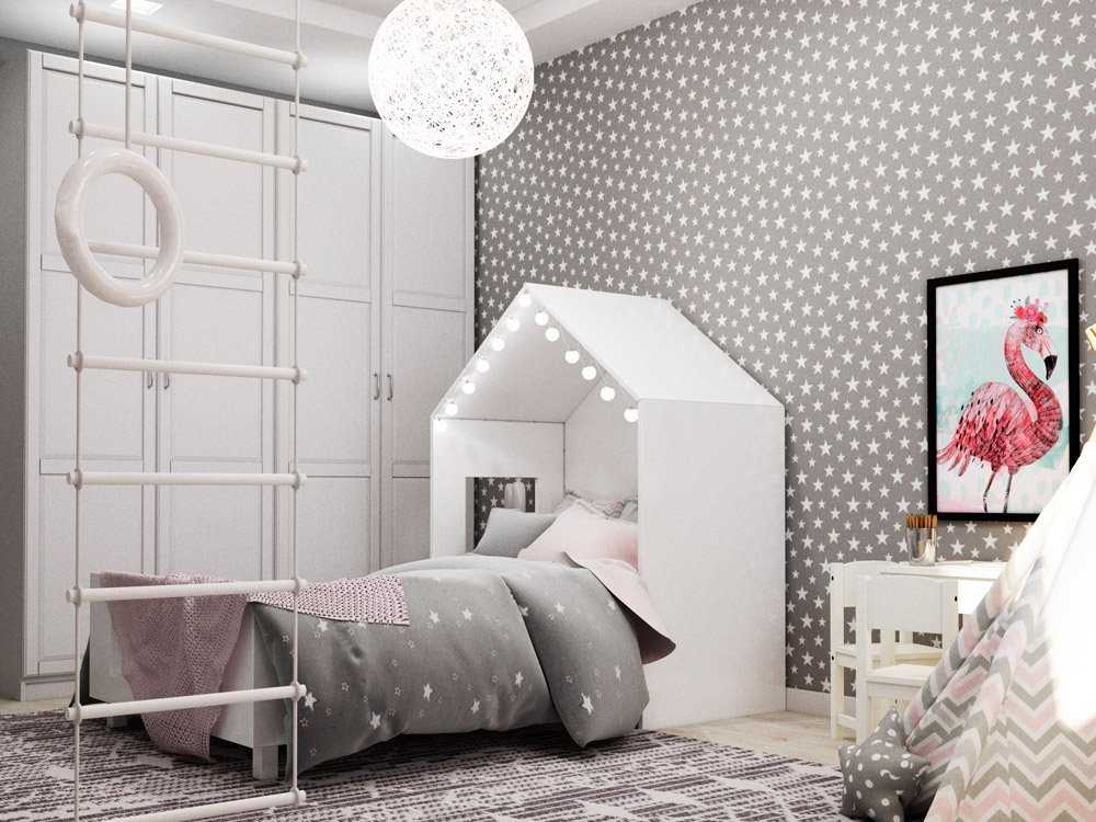 Кровать с подсветкой для детской