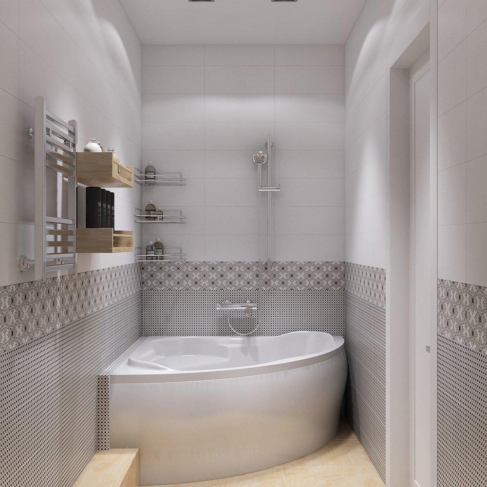 Как поместить большую ванную в узкую комнату