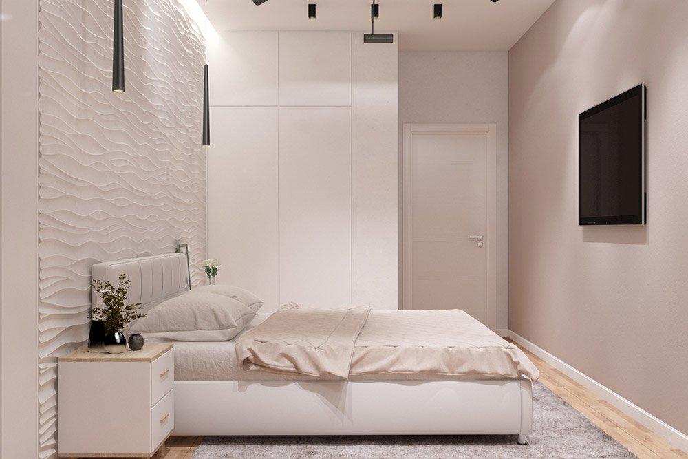 Декор белой спальни
