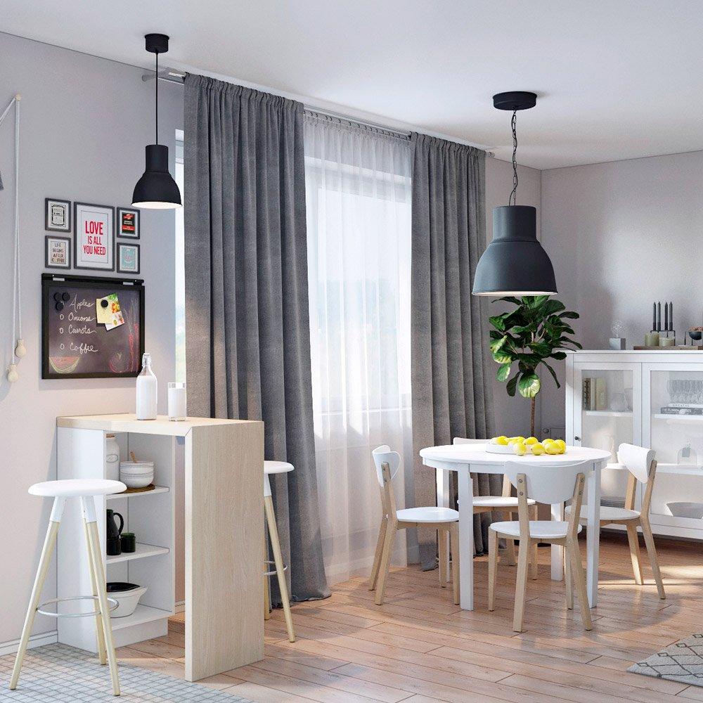 Столовая зона в гостиной части