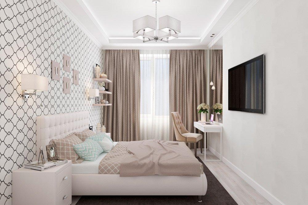 Дизайн интерьера спальни цвет беж