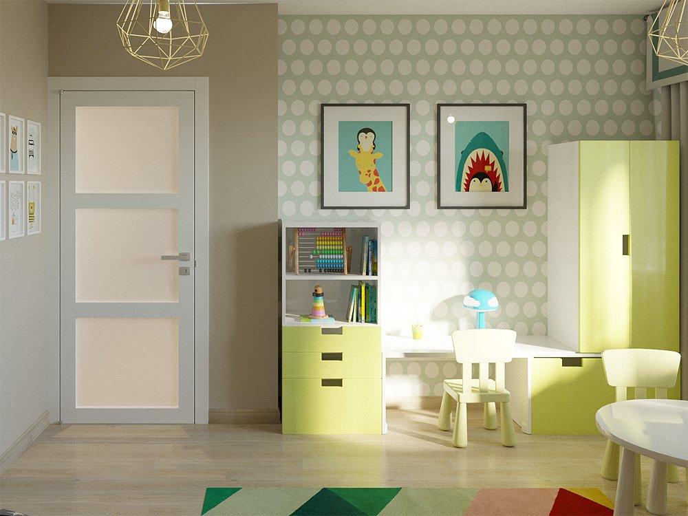 Интерьер детской комнаты для ребёнка трёх лет