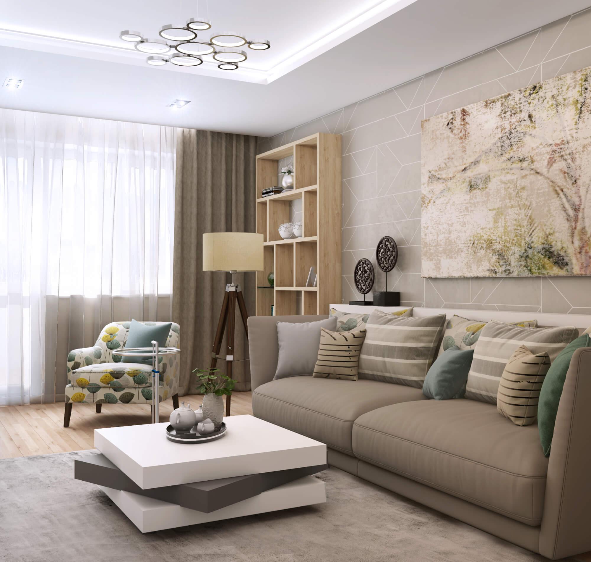 Дизайн уютной гостиной комнаты