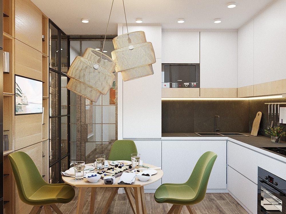 Разработка дизайна кухни со шкафами