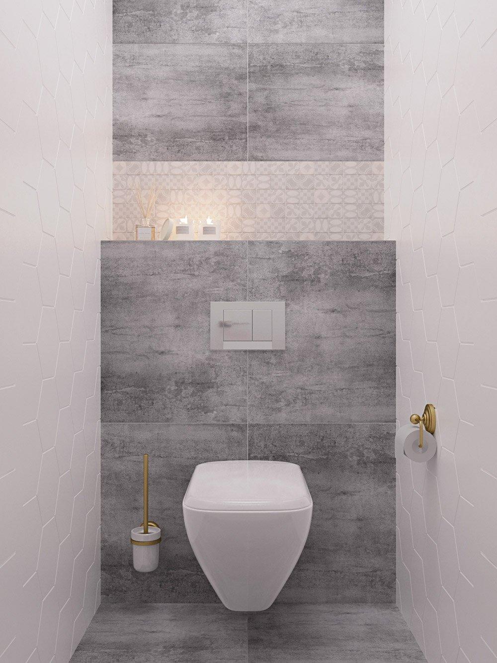 Дизайн аккуратного туалета