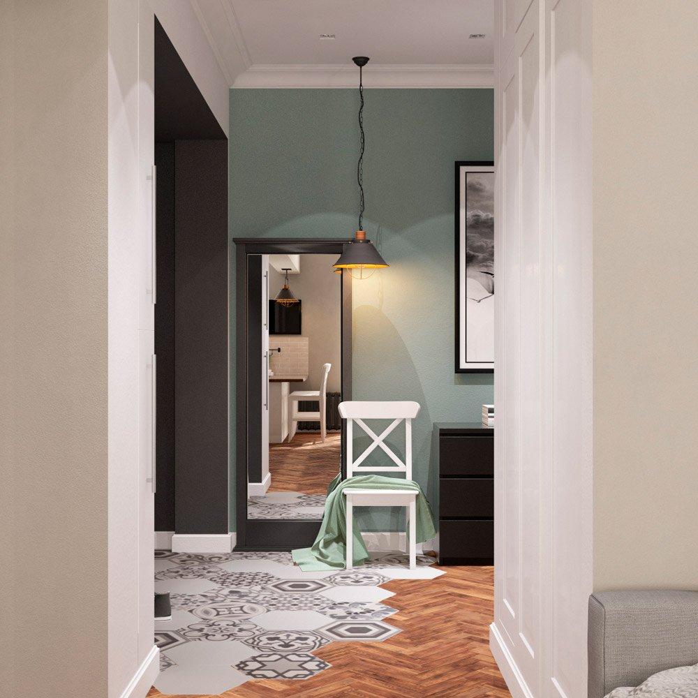 Визуализация маленького коридора в квартире