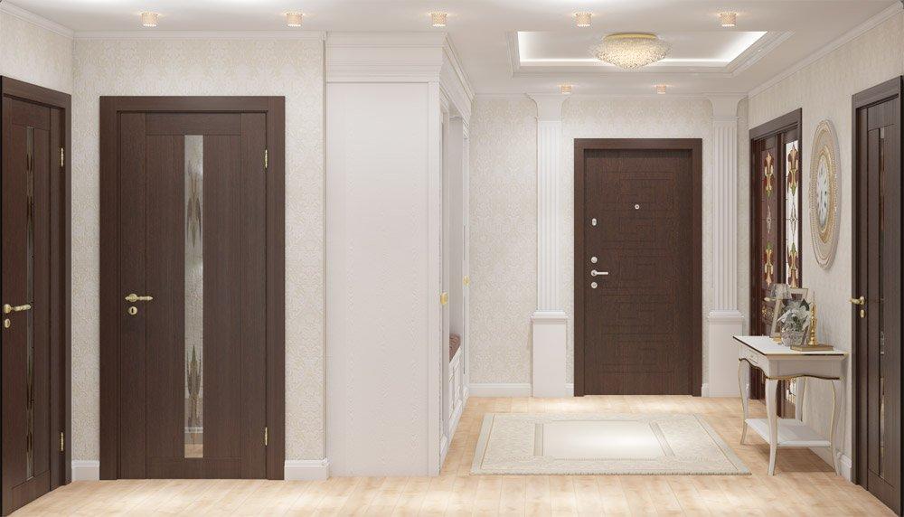 Фото дверей в коридоре квартиры