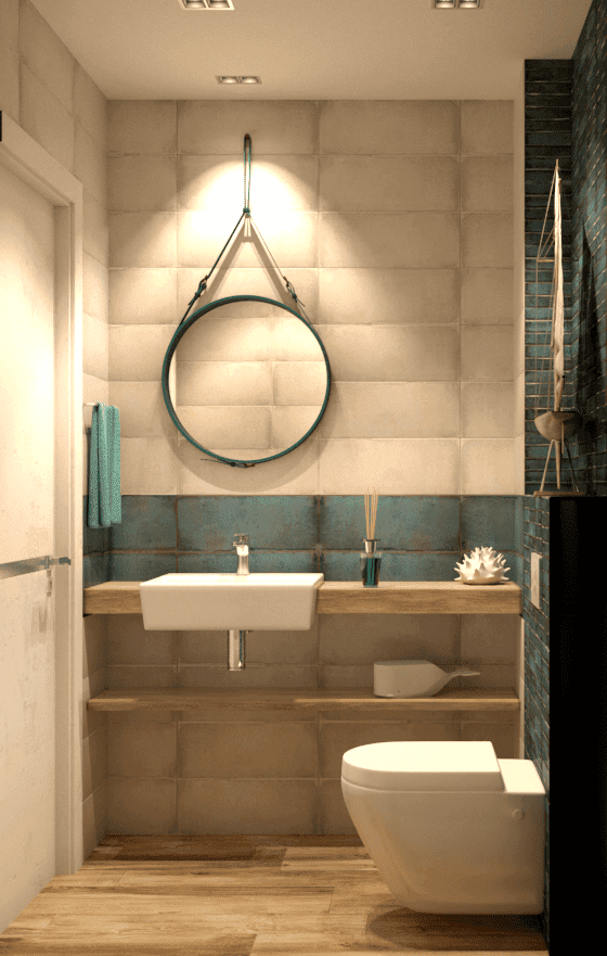 Туалет в эко стиле