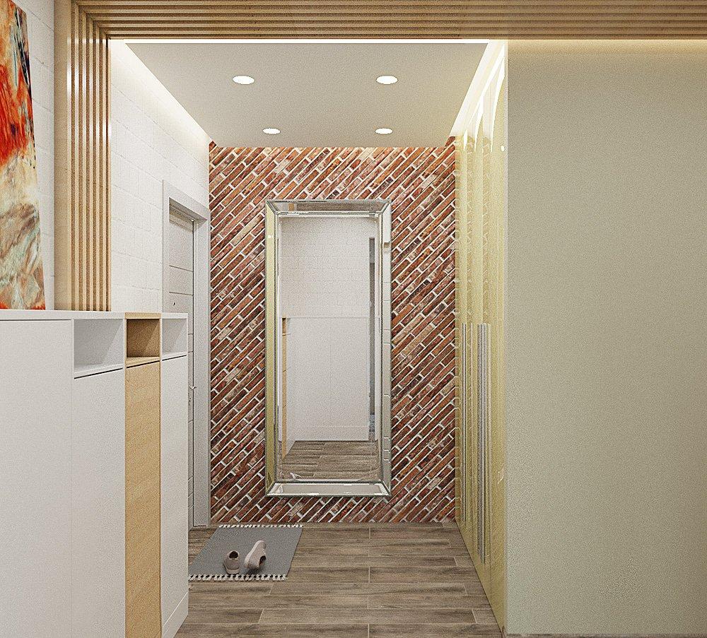 Дизайн очень светлого коридора
