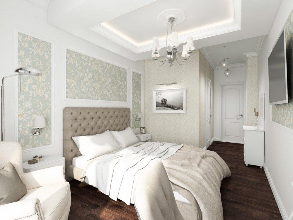 Спальня в античном стиле дизайна интерьеров