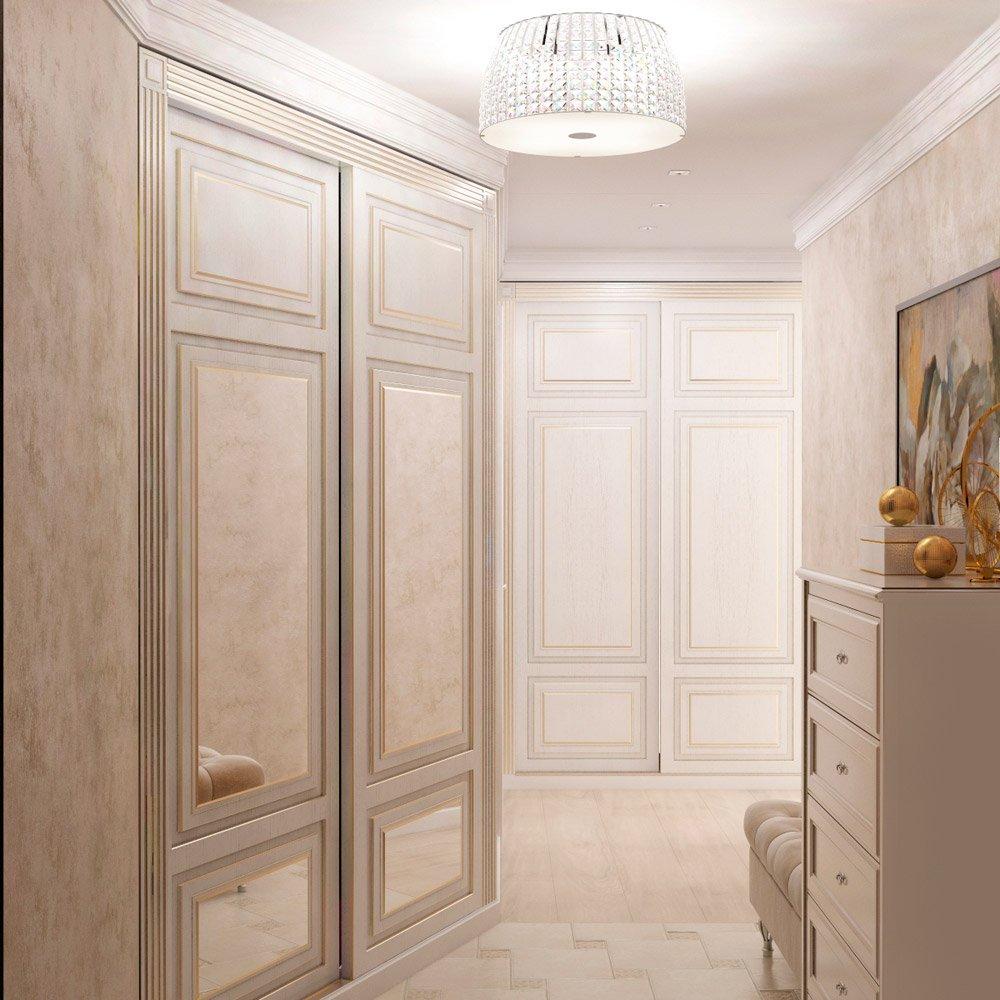 Дизайн коридора со встроенным шкафом
