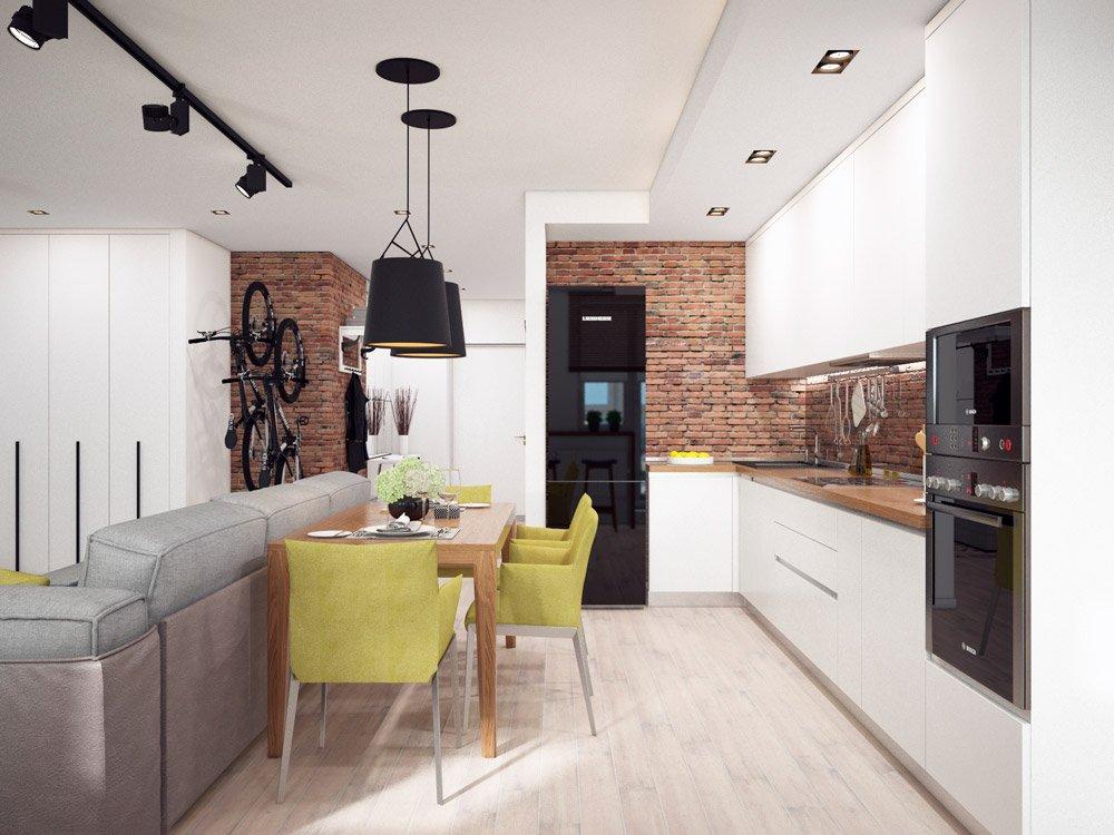 Современный дизайн кухни для парня