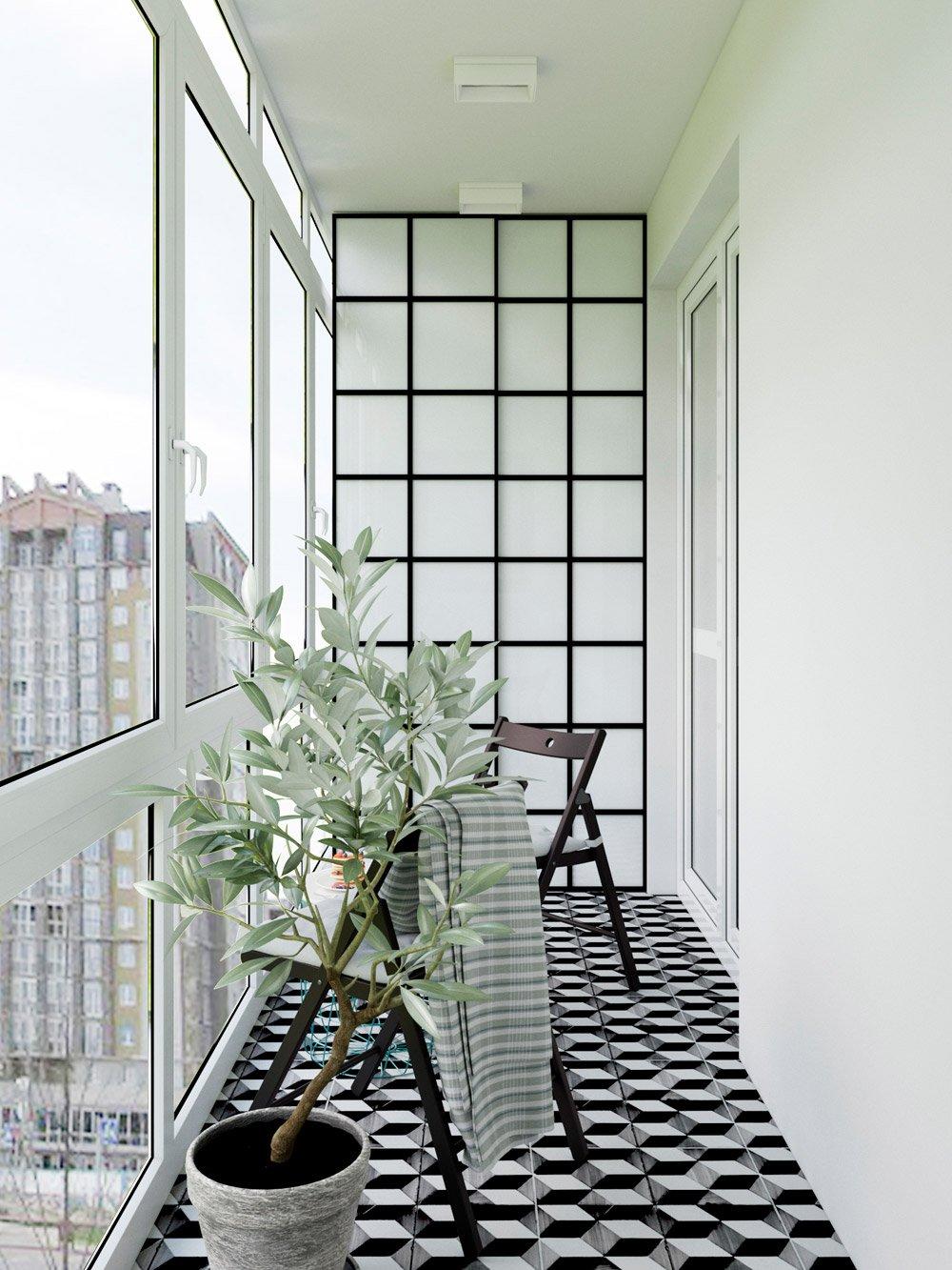 Декор стены на балконе