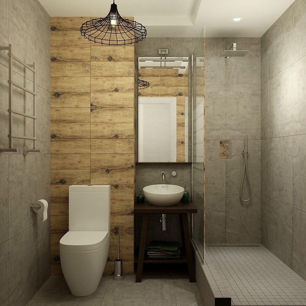 Дизайн интерьера туалета в стиле лофт