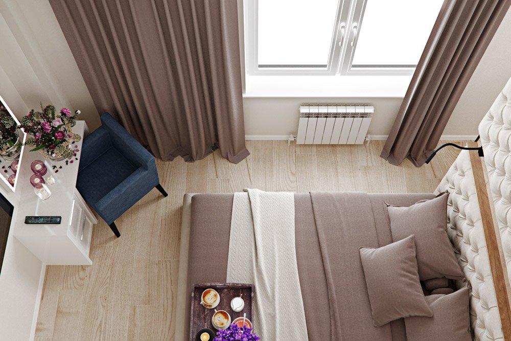 Фото дизайна спальни сверху