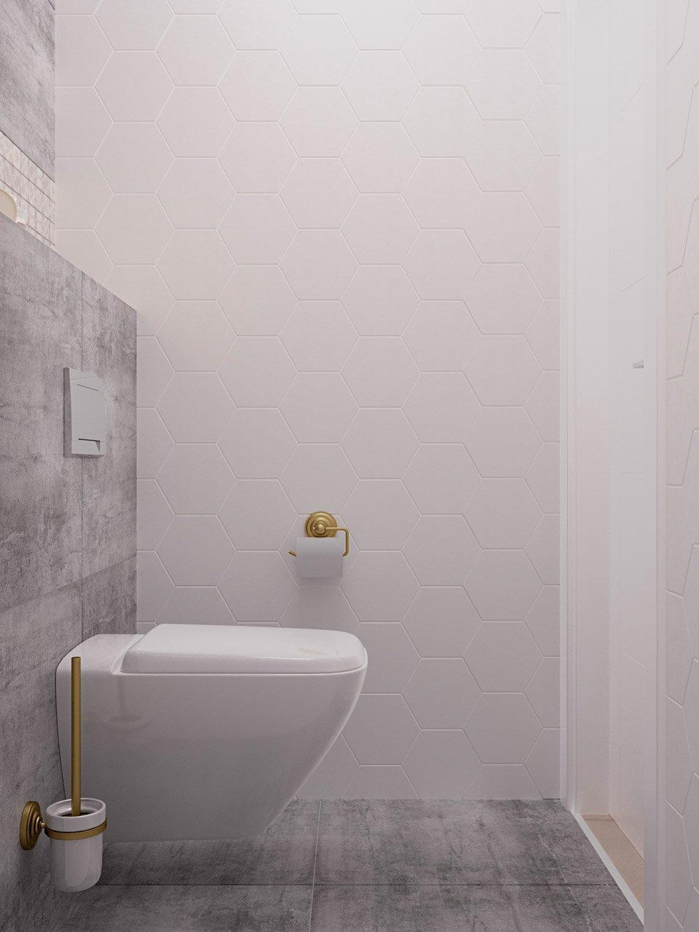 Аккуратный маленький туалет в квартиру