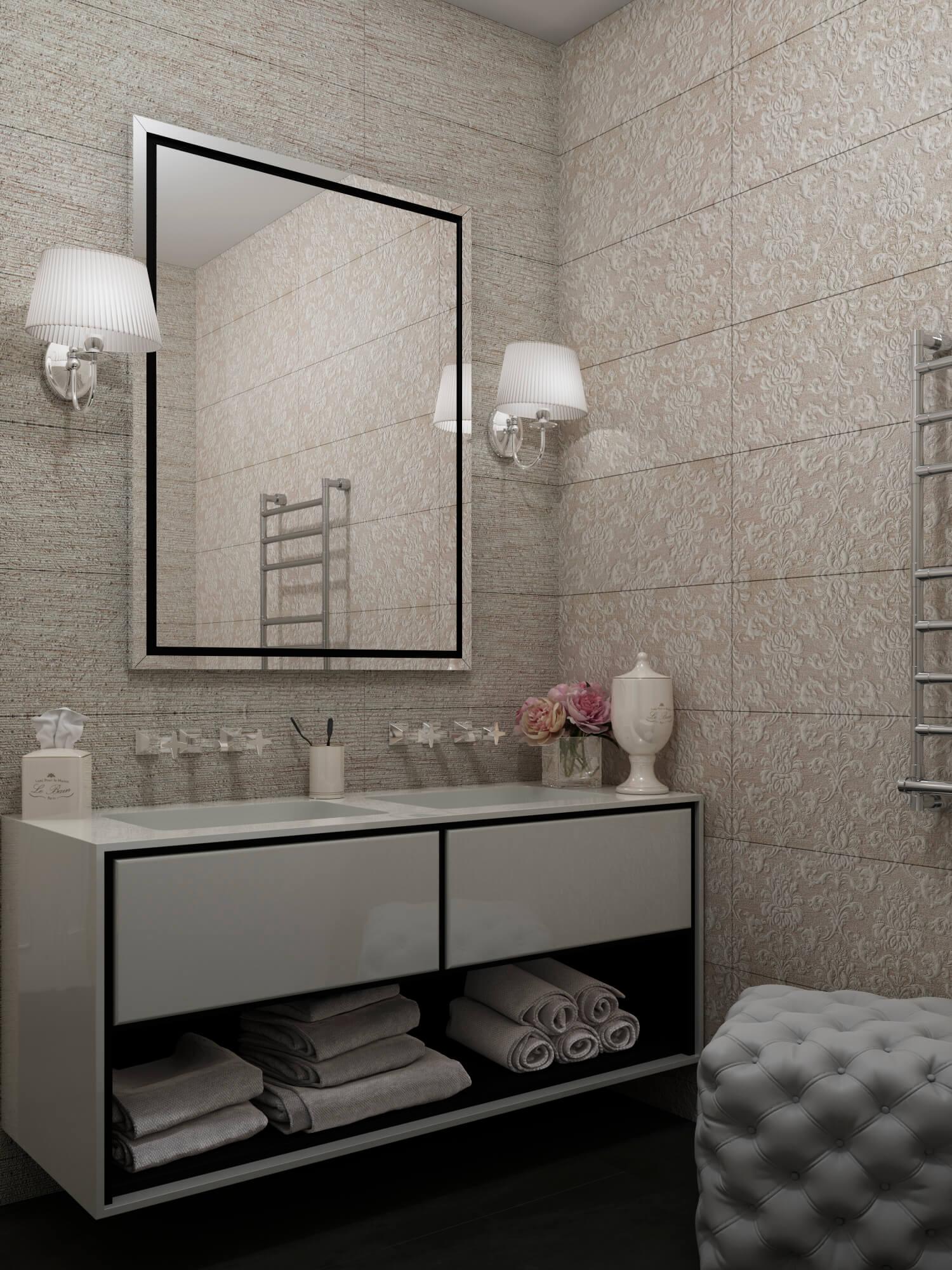 Заркало в ванной