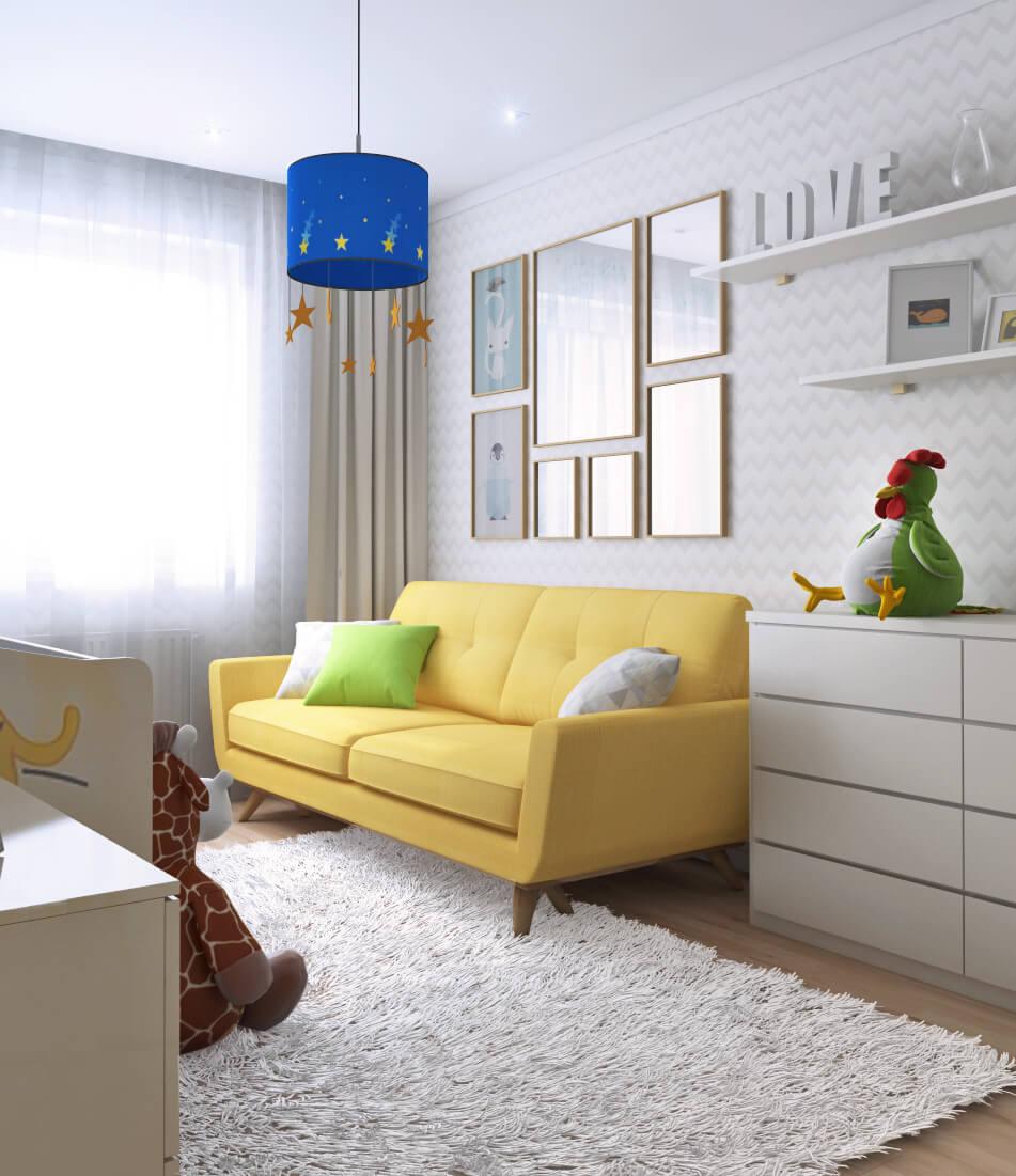 Просторная комната для младенца