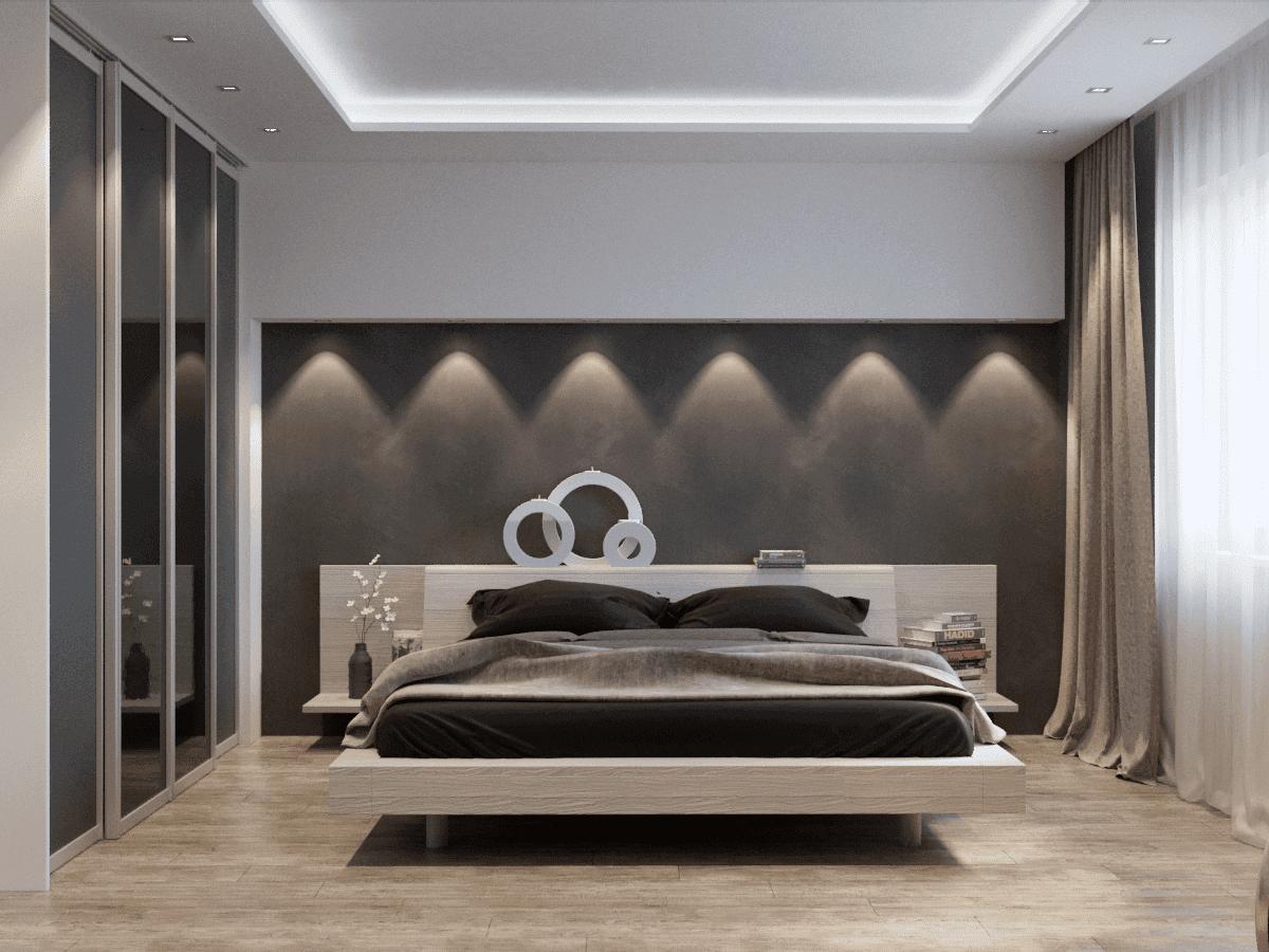 Дизайн спальной комнаты в частном доме