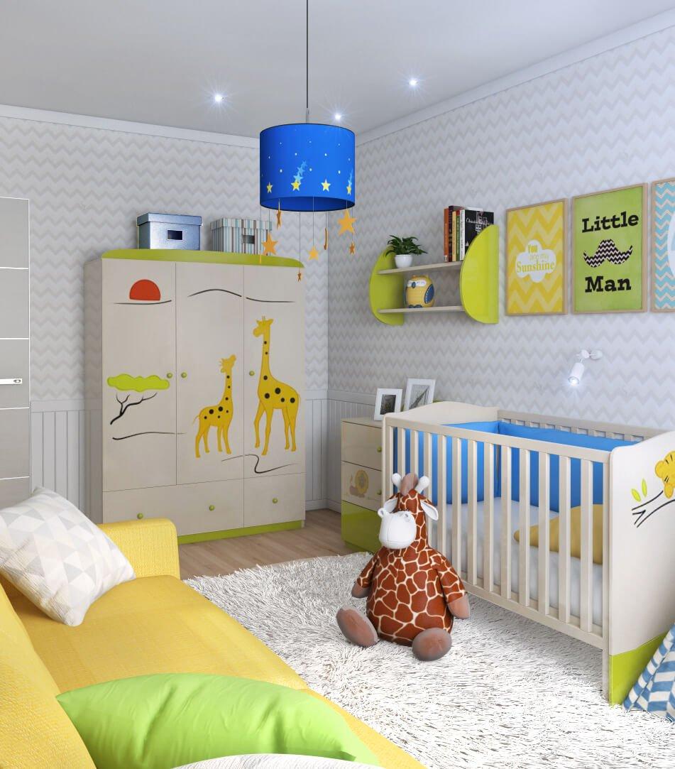 Дизайн и декор комнаты для новорождённого ребёнка