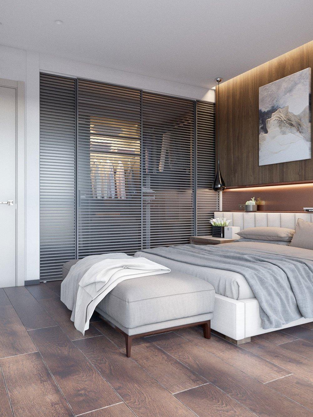 Мебель в дизайне спальни эко стиля